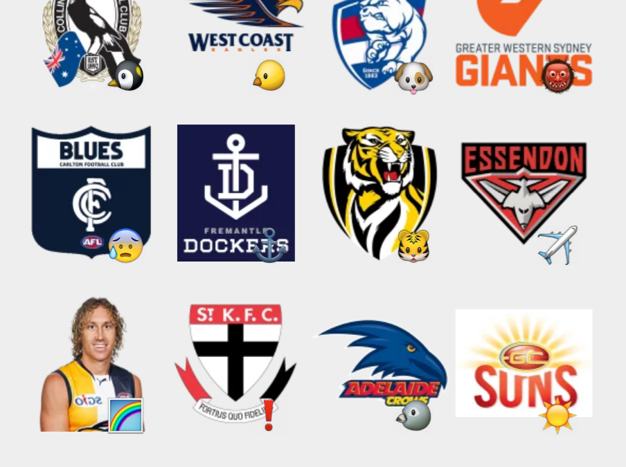 Australian Football Teams stickers set