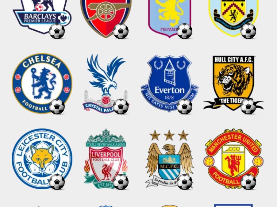 Barclays Premiere League stickers set