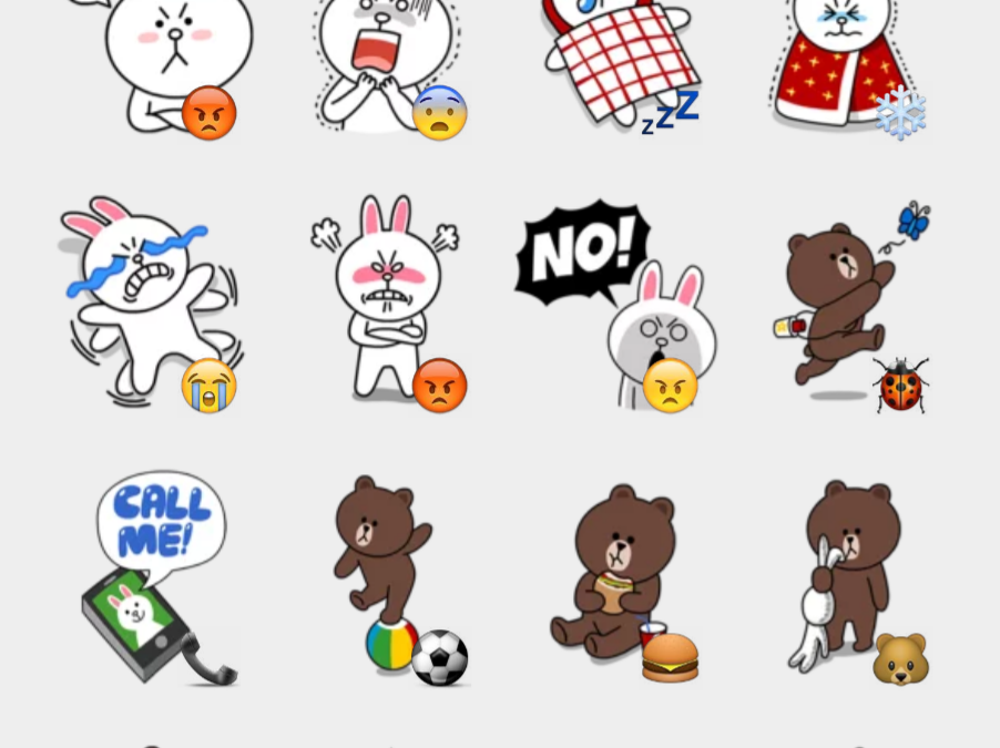 Brown & Cony 2 sticker set