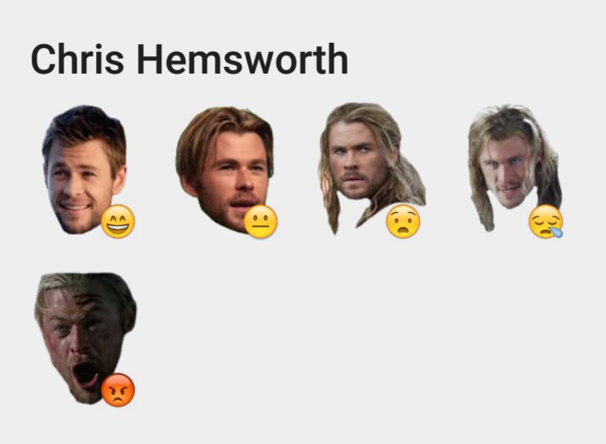 Chris Hemsworth sticker set