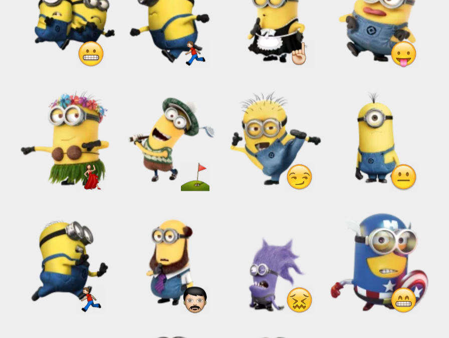 Despicable me stickers set