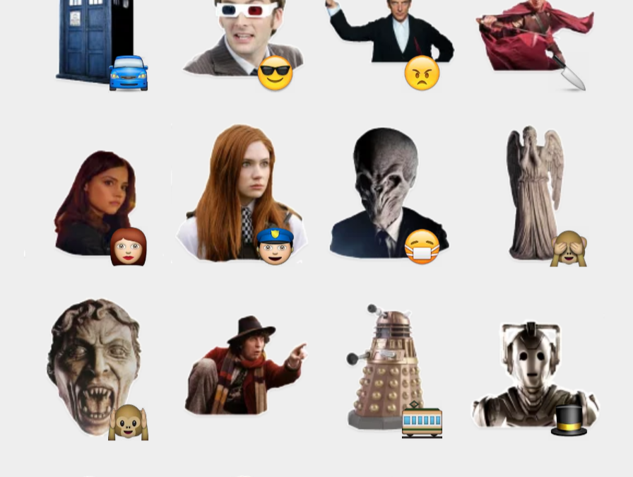 DrWho stickers set