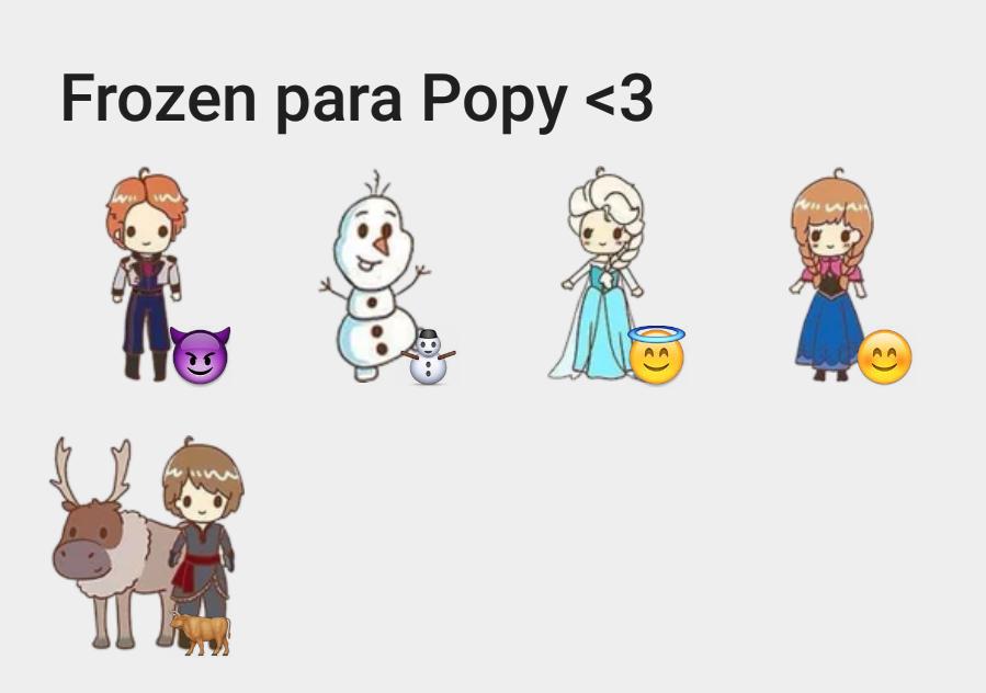 Frozen para Popy
