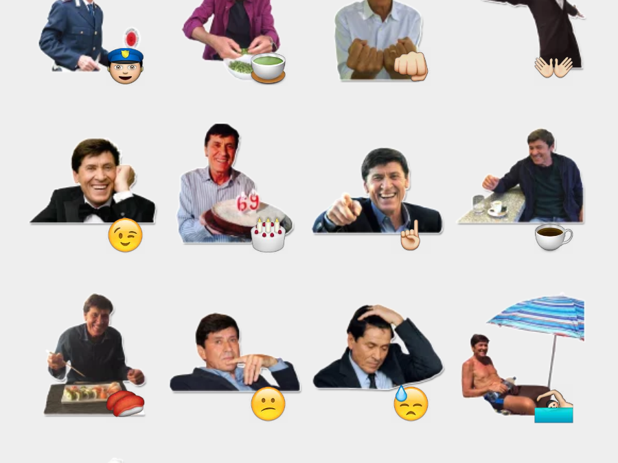 Gianni Morandi sticker set