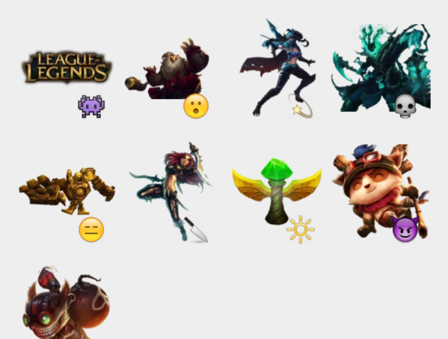 League of Legends sticker set