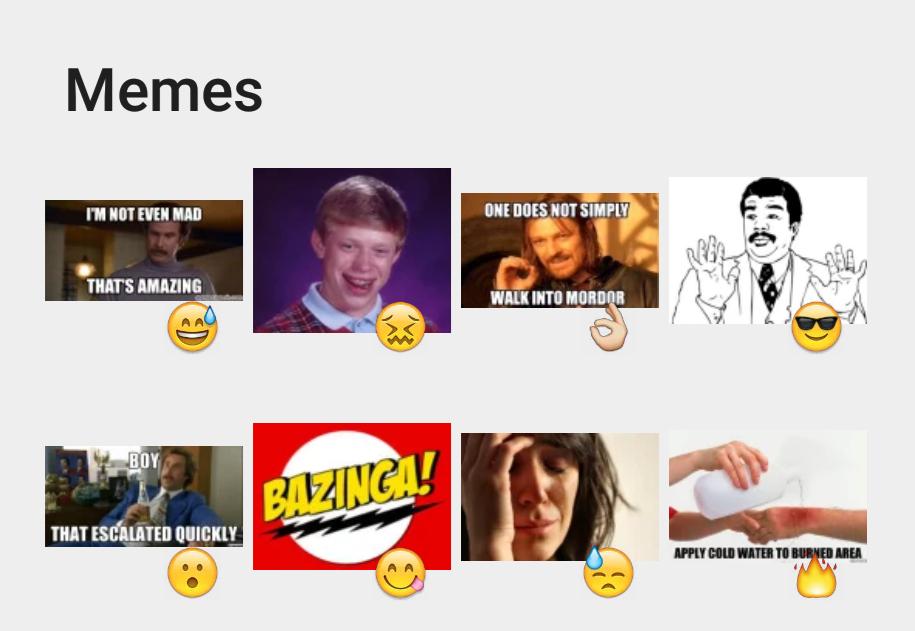 Memes sticker set