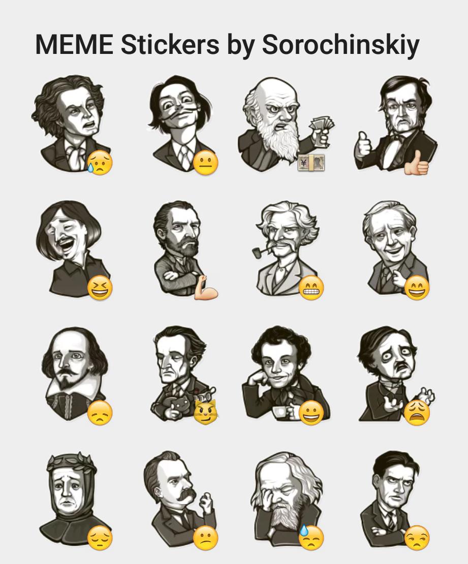 memestickersbysorochinskiy meme stickers by sorochinskiy sticker set stickers