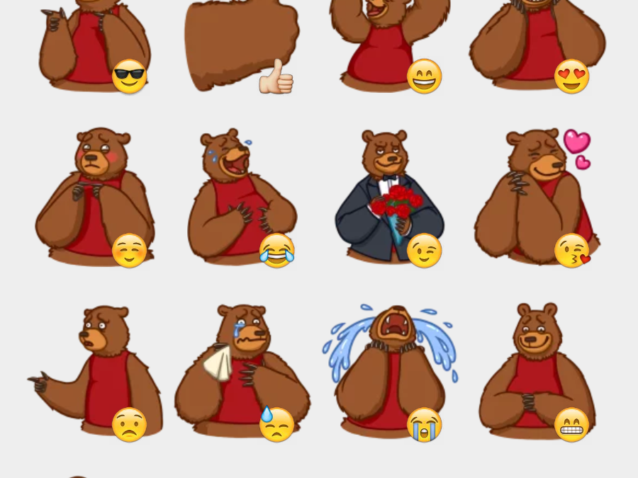 Mikhail stickers set