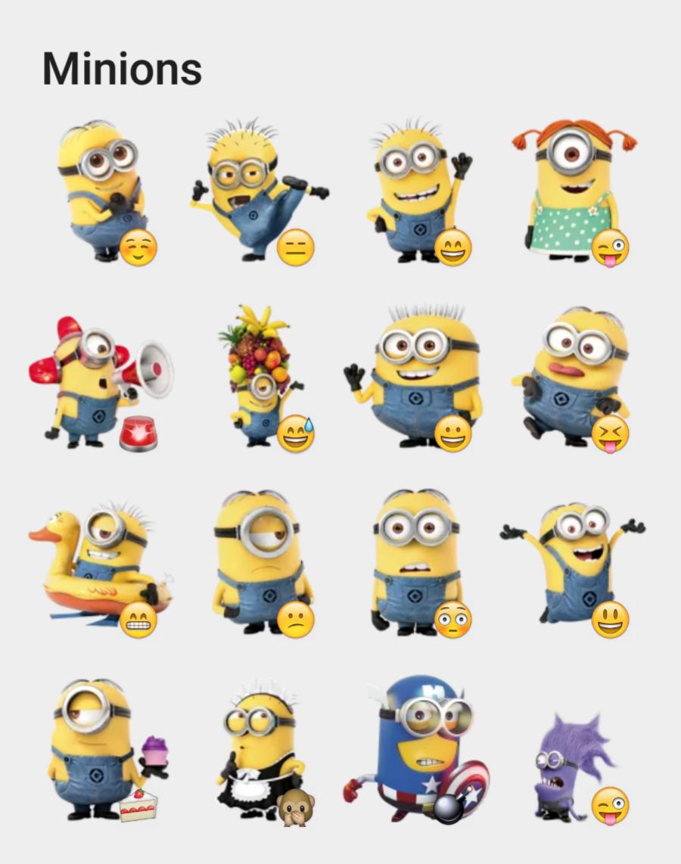 Image Gallery Minion Stickers