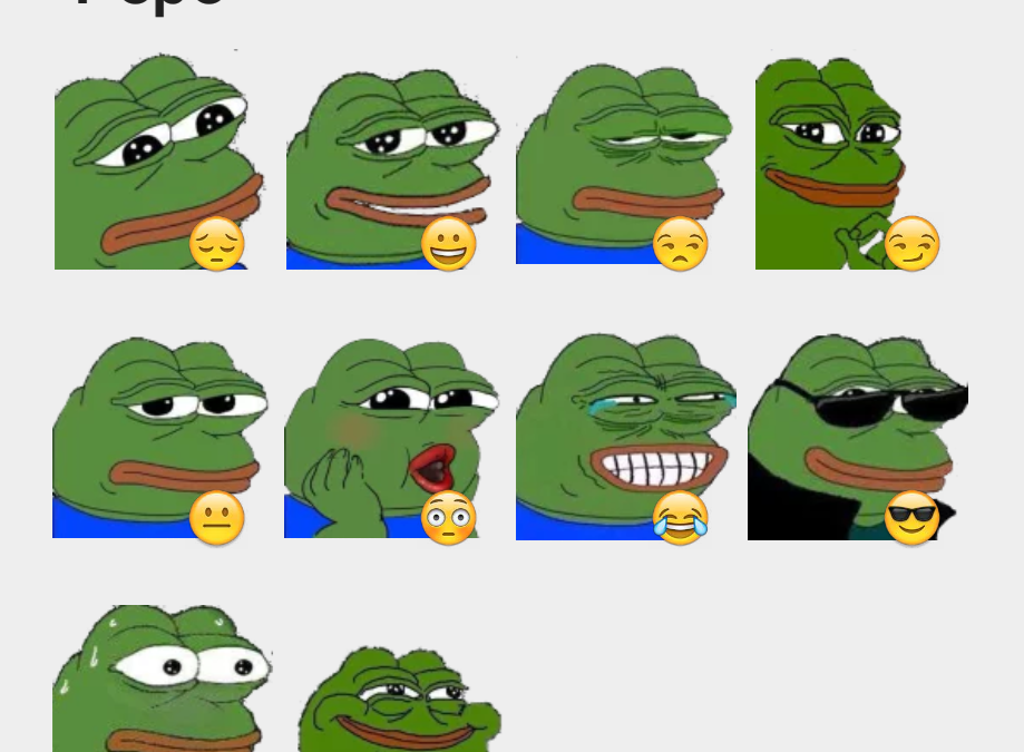 Pepe sticker set
