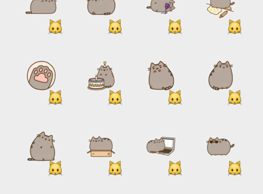 Pusheen sticker set