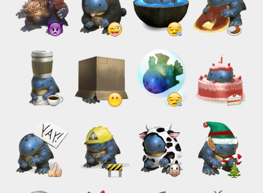 Quaggan sticker set