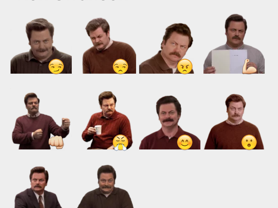 Ron Swanson sticker set