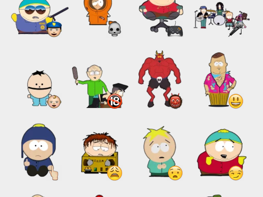 Southpark sticker set