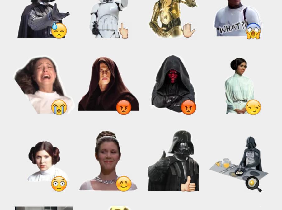 Star Wars stickers set