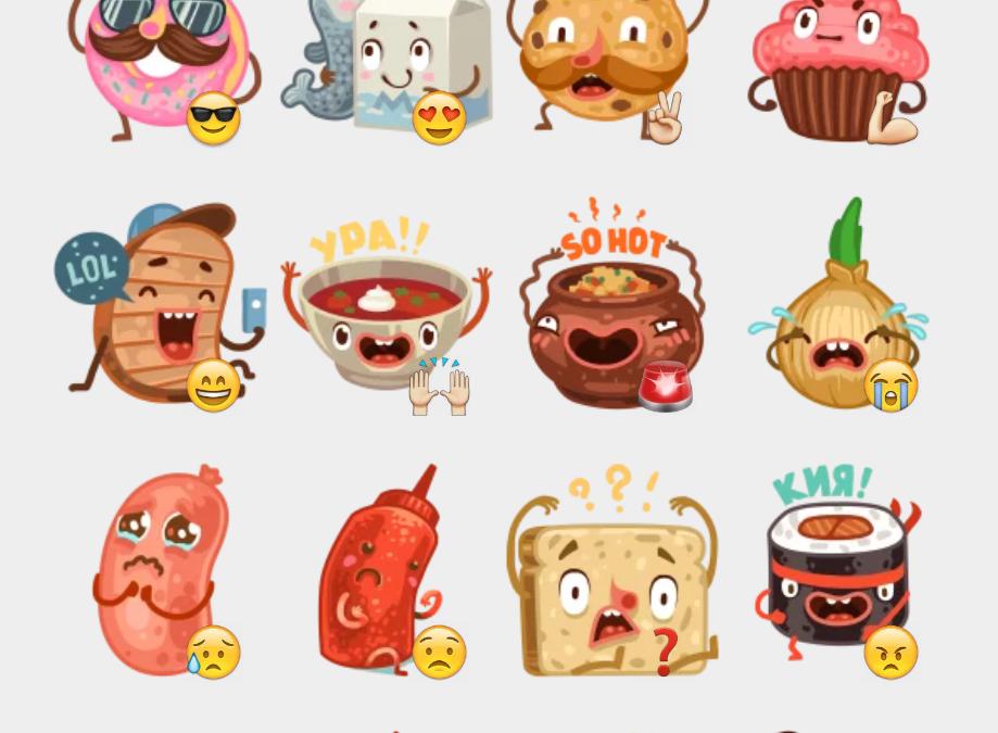 Tasty Team sticker set