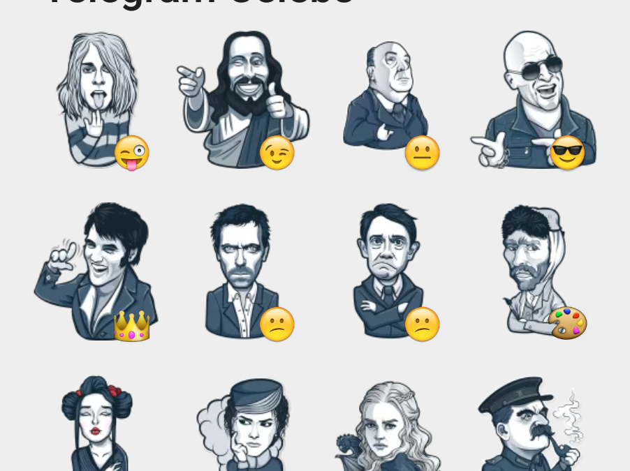 Telegram Celebs sticker set