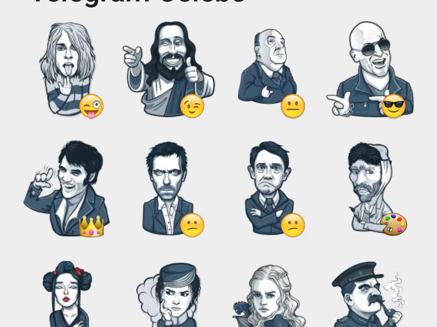 Telegram Celebs sticker set