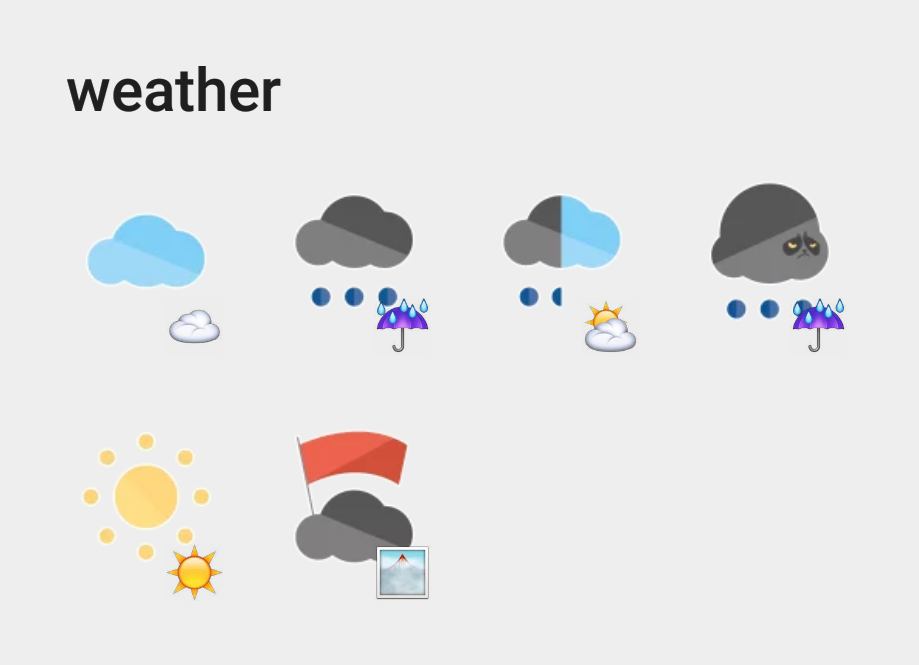Weather sticker set
