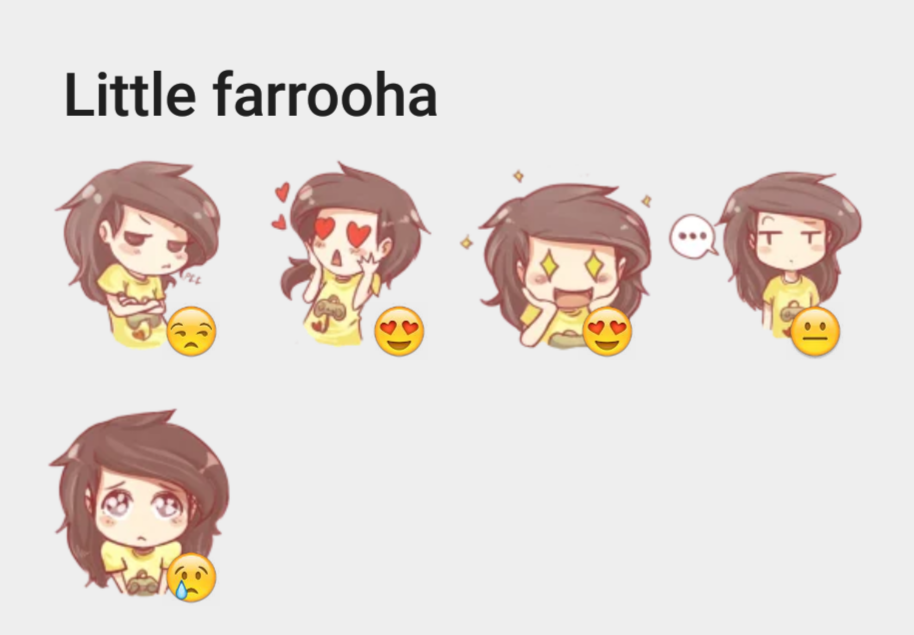 Little farrooha sticker set