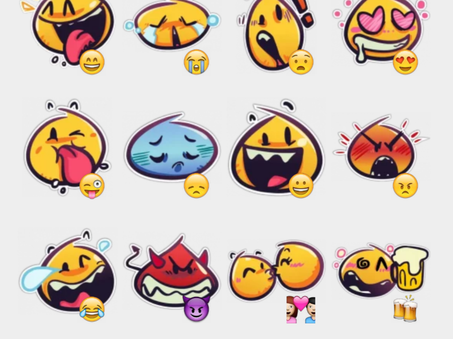 Yellow Smileys by NVR sticker set