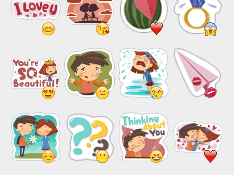 Young Love stickers set