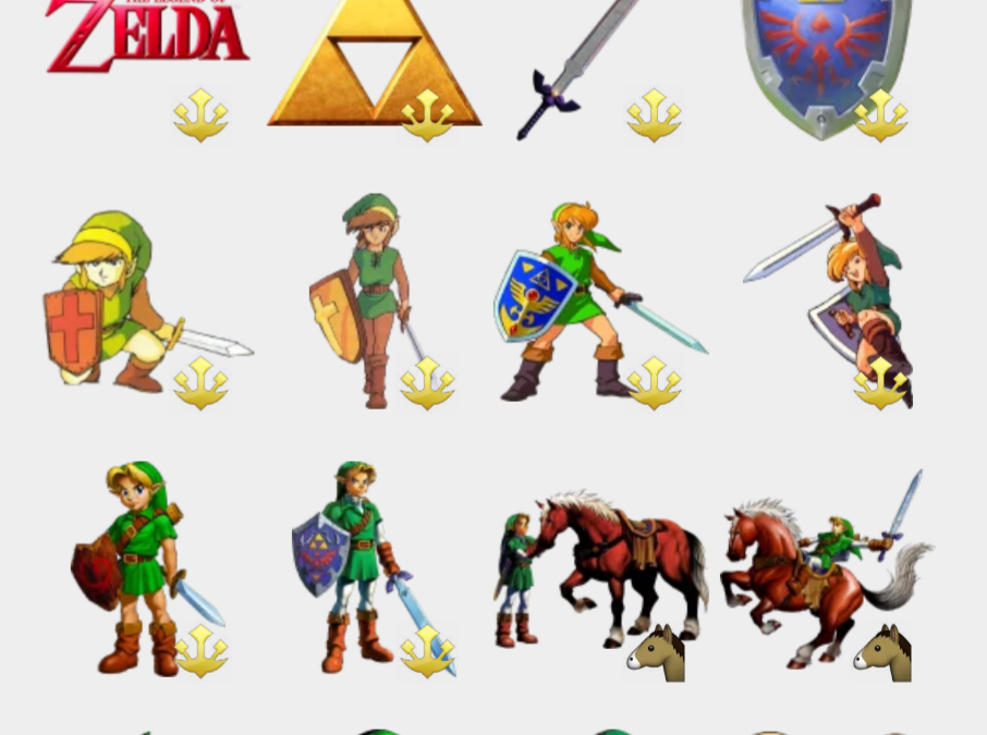 The Legend of Zelda stickers set