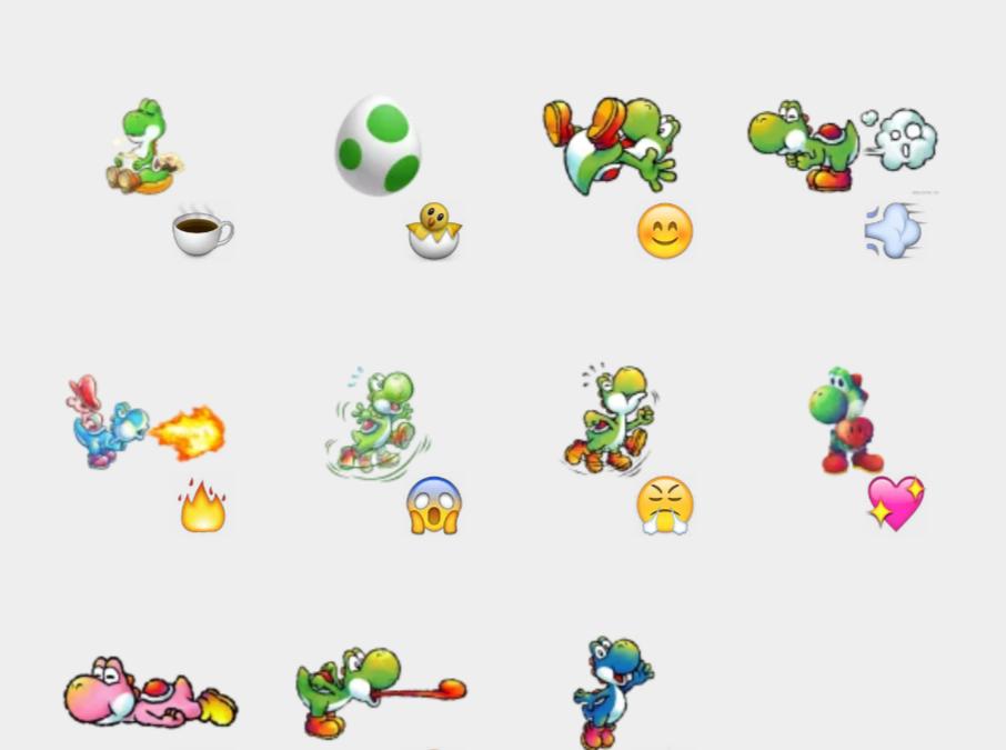 Yoshi stickers set