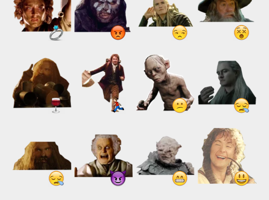 lord of the Rings Telegram sticker set