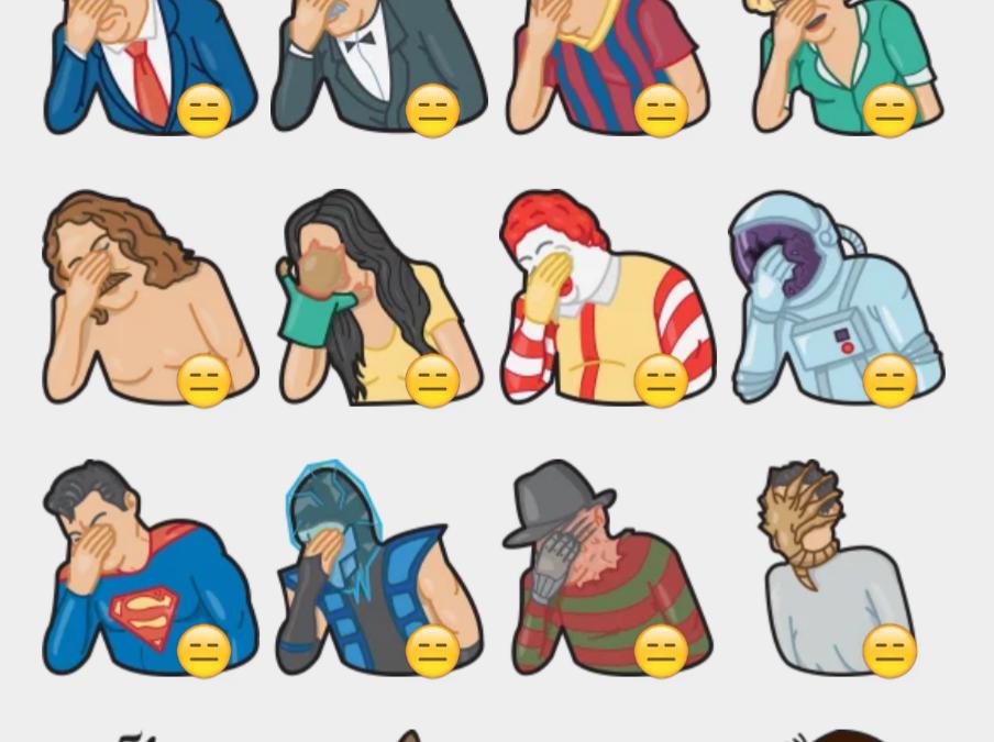 Facepalm Stickers by Gudim sticker set