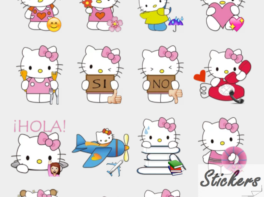 Hello Kitty by DvD Telegram sticker set