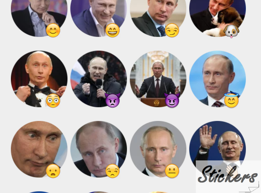 Putin Telegram sticker set