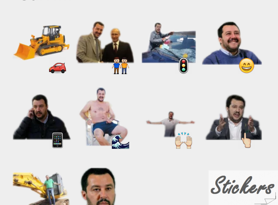 Salvini Telegram sticker set