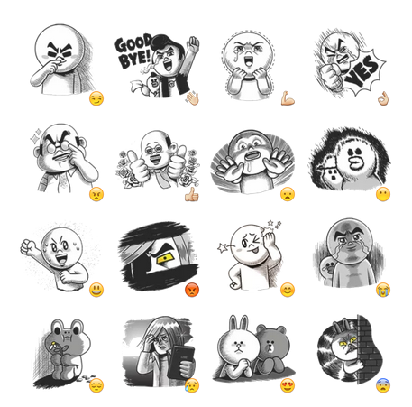Line characters:Hamming it up Telegram sticker set