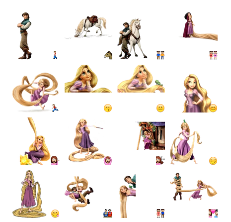 Tangled Rapunzel Telegram sticker set