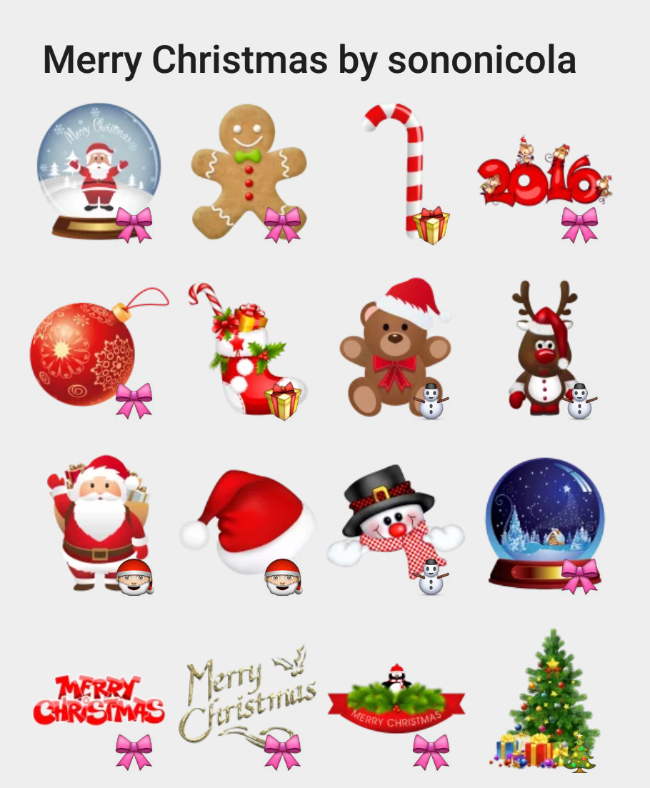 merry christmas by sononicola telegram sticker set stickers