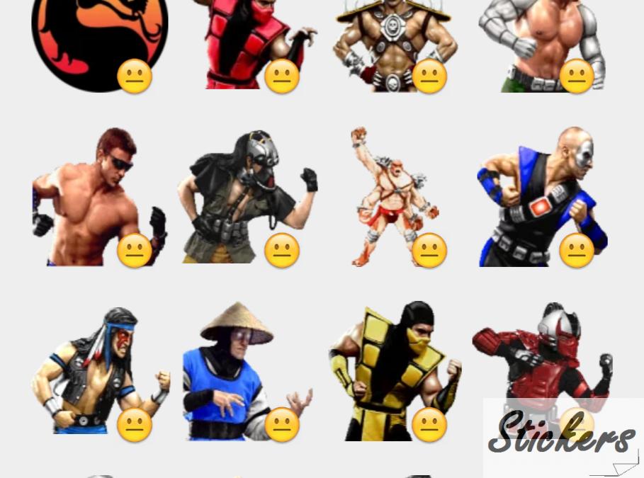 Mortal Kombat 3b Telegram sticker set