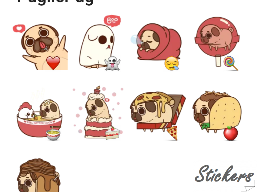 PugliePug Telegram sticker set