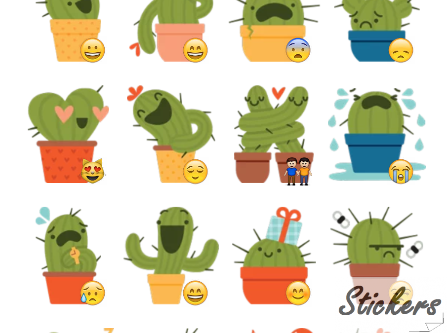 Cacti Telegram sticker set