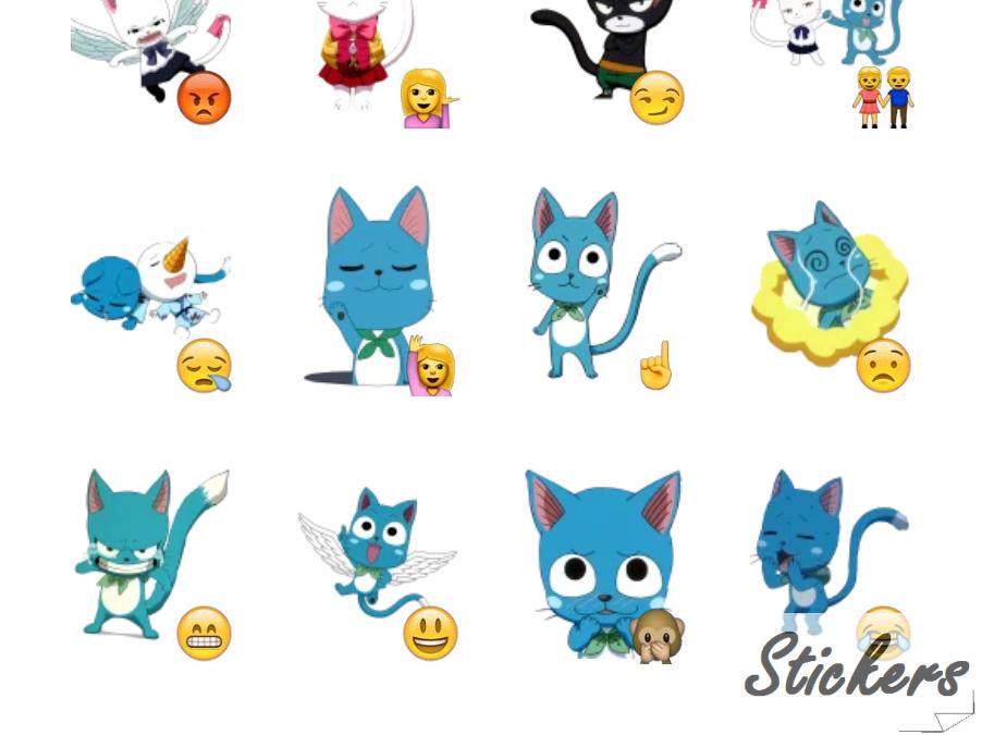 Fairy Tail Telegram sticker set