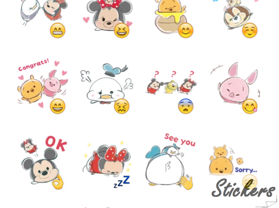 TSUM TSUM Telegram sticker set