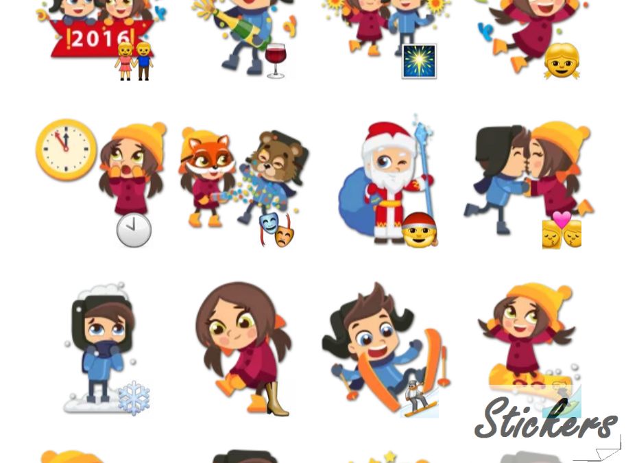 Christmas Time Telegram sticker set