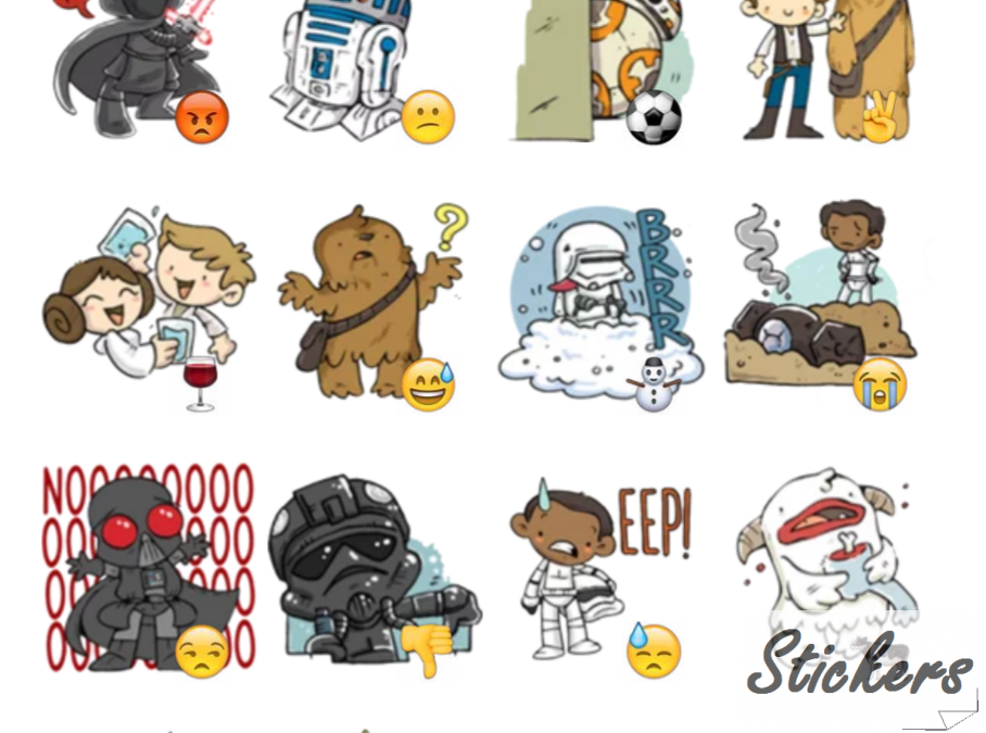 Star Wars The Force Awekens Telegram sticker set