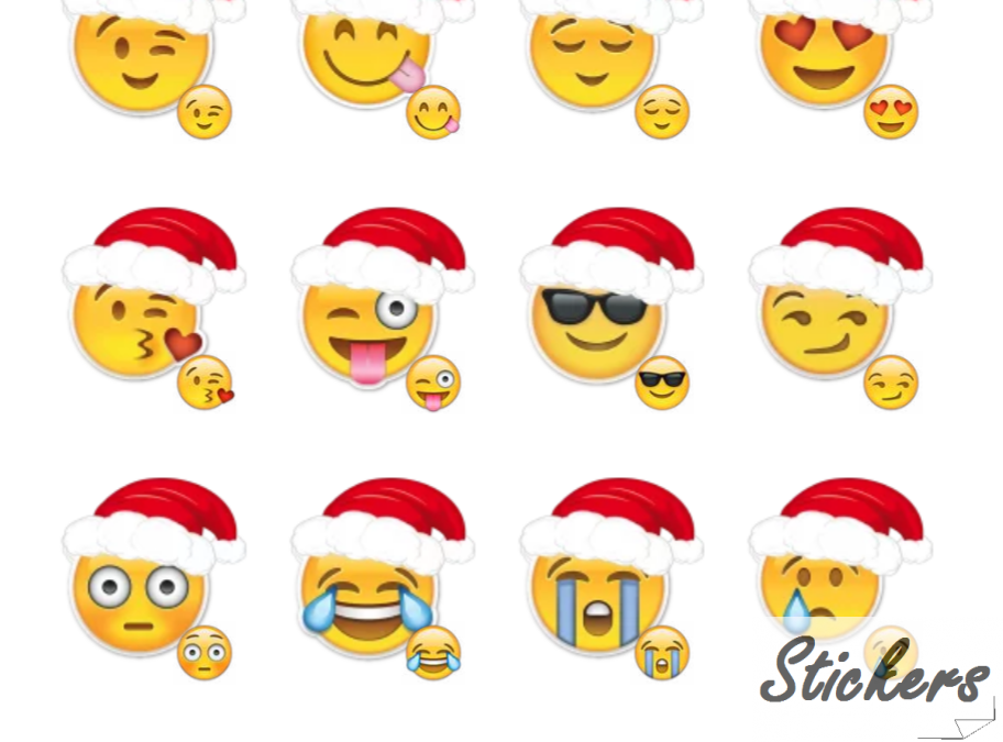 Merry Christmas Emoji Telegram sticker set
