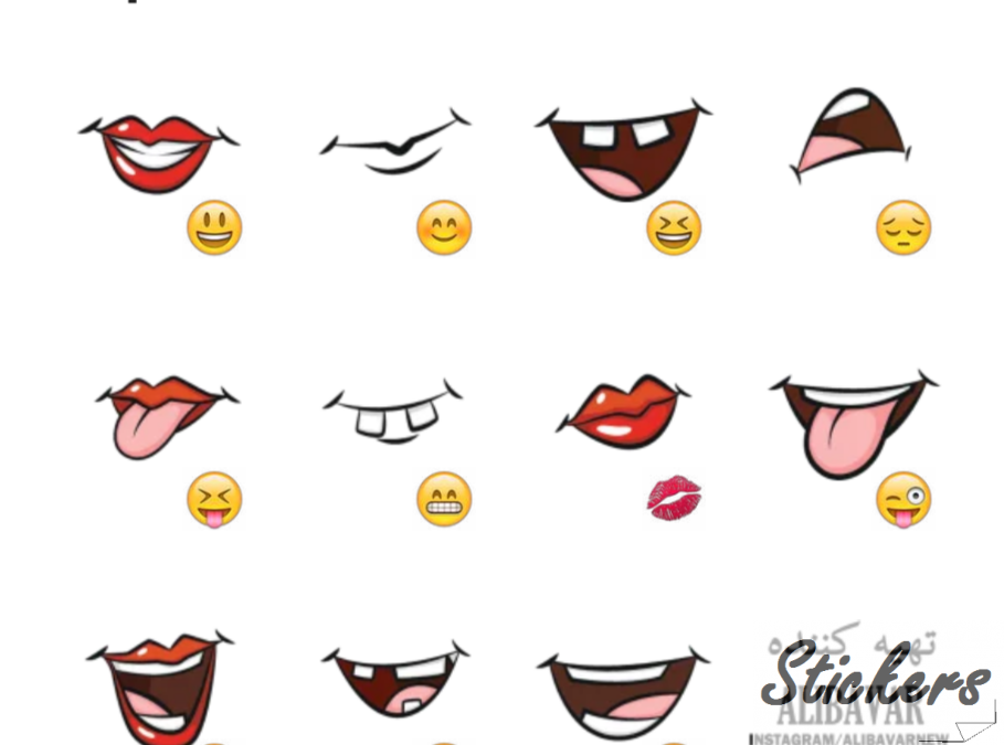 Lip Telegram sticker set