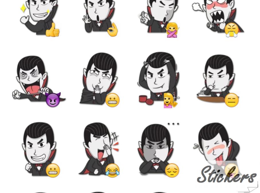 Pale Face Telegram sticker set