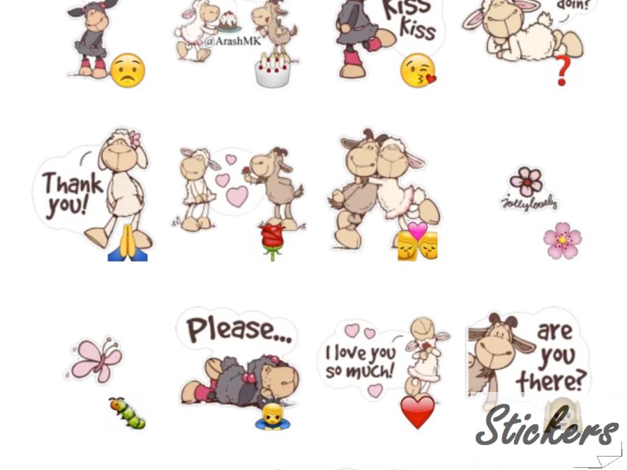 NICI Telegram sticker set