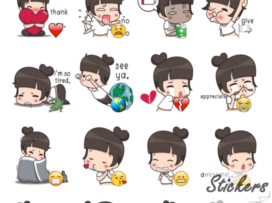 Fei Fei Kawai Girl 💋 Telegram sticker set