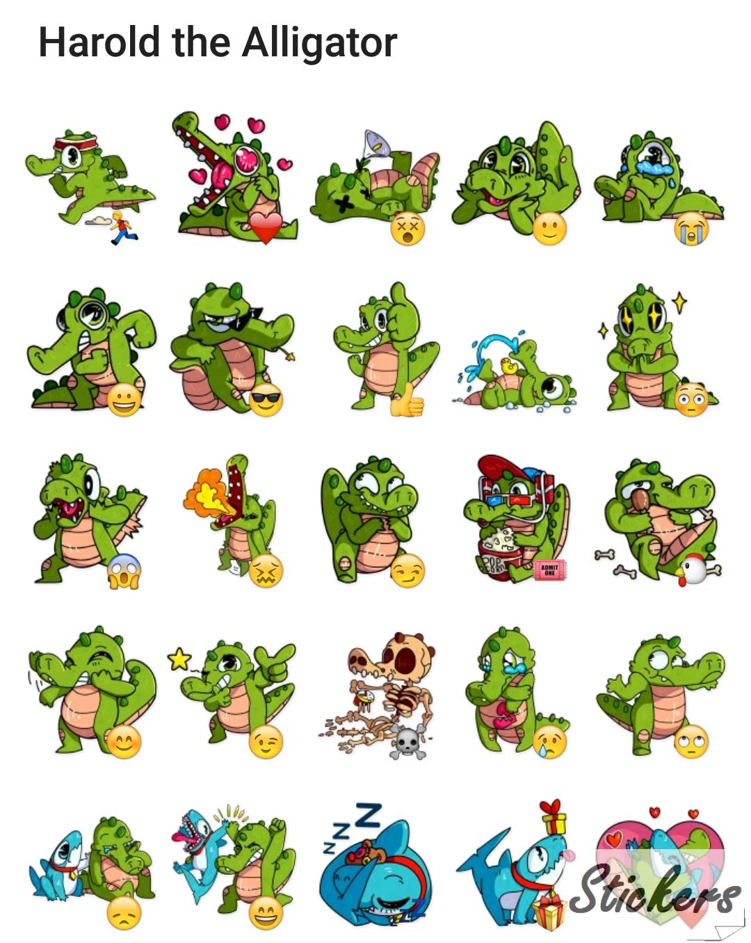 Harold the Alligator Telegram sticker set