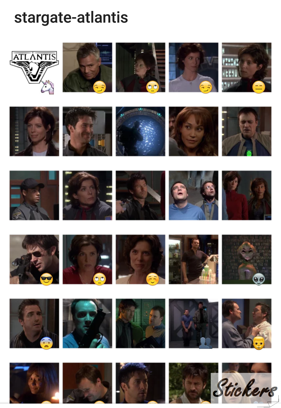 Stargate-atlantis Telegram sticker set